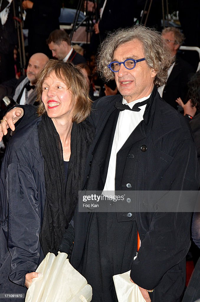 Wim Wenders (R) and Donata Wenders attend the Premiere of 'Jimmy P. (Psychotherapy Of A Plains Indian)' at Palais des Festivals during The 66th Annual Cannes Film Festival on May 18, 2013 in Cannes, France.