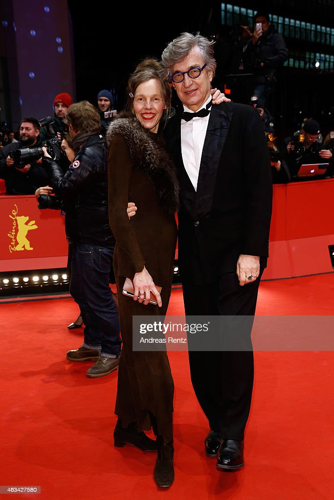 Wim Wenders and his wife Donata Wenders attend the Closing Ceremony of the 65th Berlinale International Film Festival at Berlinale Palace on February...