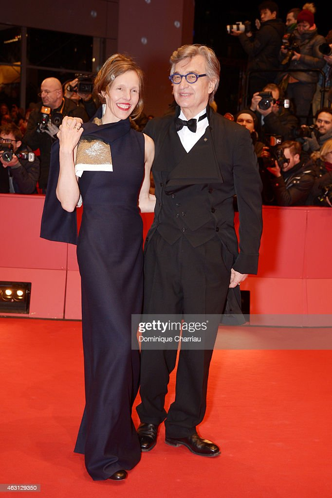 Wim Wenders and his wife Donata Wenders attend the 'Every Thing Will Be Fine' premiere during the 65th Berlinale International Film Festival at...