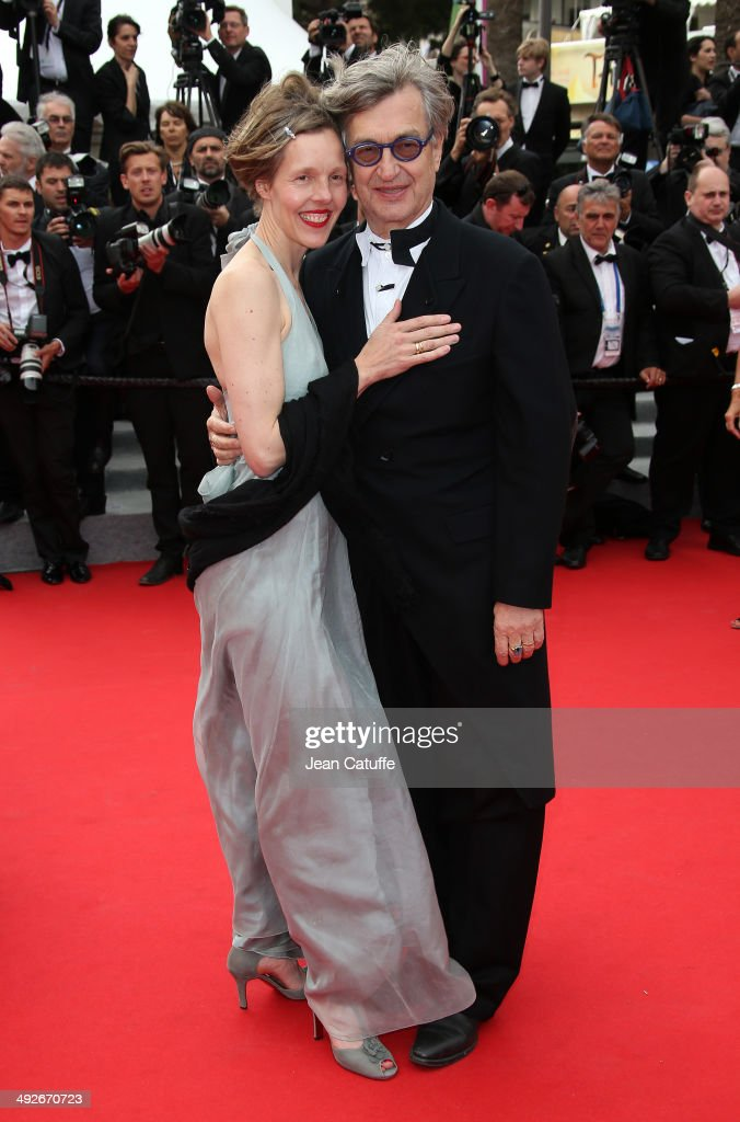 Wim Wenders and his wife Donata Wenders attend 'The Search' premiere during the 67th Annual Cannes Film Festival on May 21 2014 in Cannes France