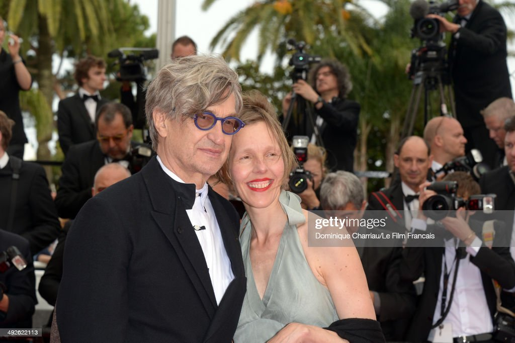 Wim Wenders and his wife Donata Wenders attends 'The Search' Premiere at the 67th Annual Cannes Film Festival on May 21 2014 in Cannes France