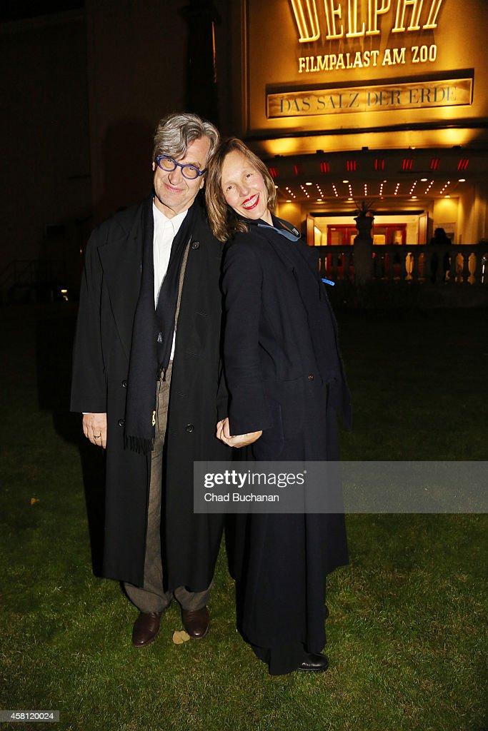 Wim Wenders and his wife Donata Wenders sighted arriving at the Delphi Theatre before a screening of the film 'The Salt of the Earth' on October 30...