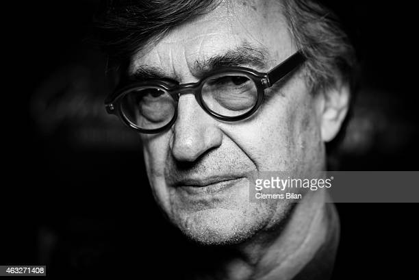 Wim Wenders attends the WarmUp at the Glashuette Original lounge during the 65th Berlinale International Film Festival at Kollhoff Tower on February...
