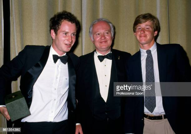 Wimbledon champion John McEnroe of the USA with his father John Patrick Senior and brother Patrick at the Wimbledon Champions Dinner in London...