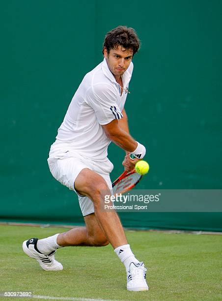 Wimbledon Championships 2008 Mario Ancic of Croatia during his match with Michael Llodra of France