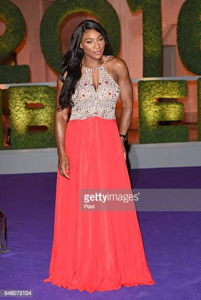 Wimbledon ladies singles Tennis Champion Serena Williams of the United States attends the Wimbledon Champions Dinner 2016 at the Guild Hall on July...