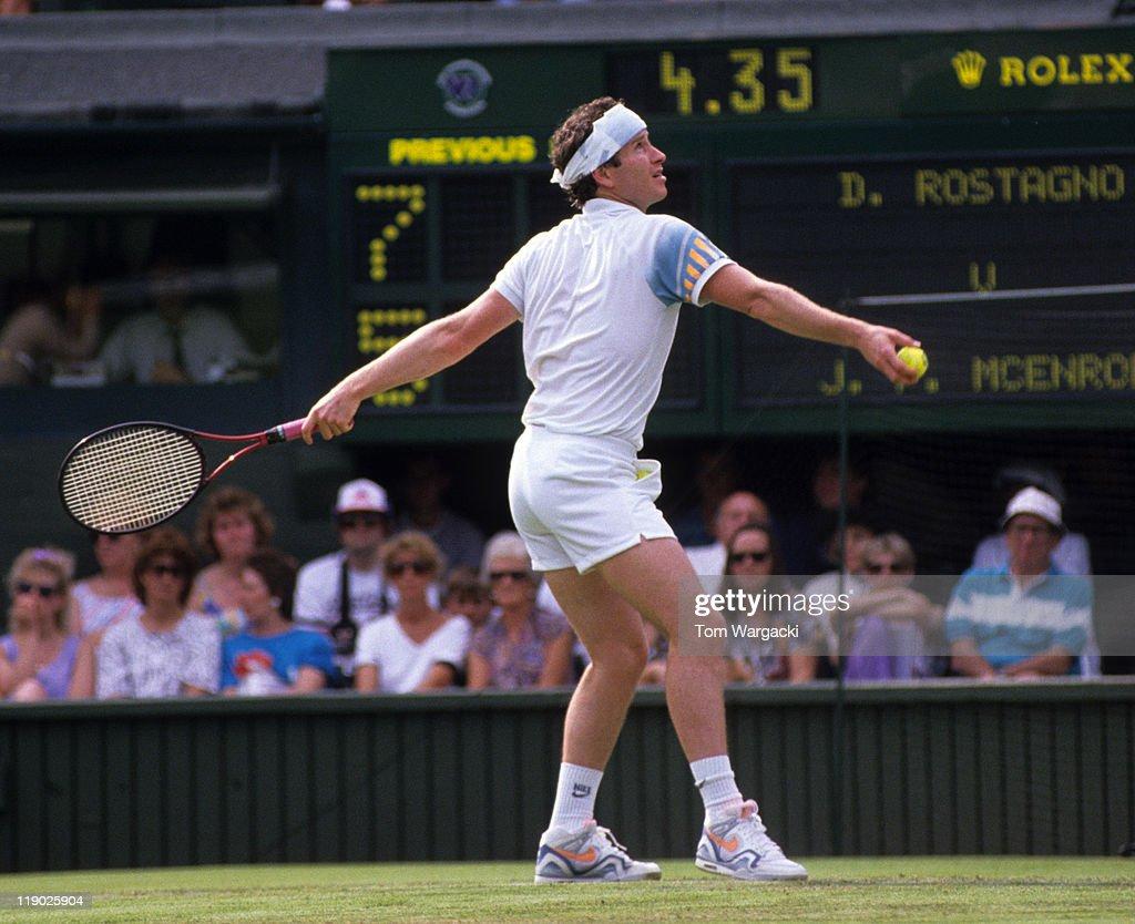 Wimbledon John McEnroe vs Derek Rostango s and