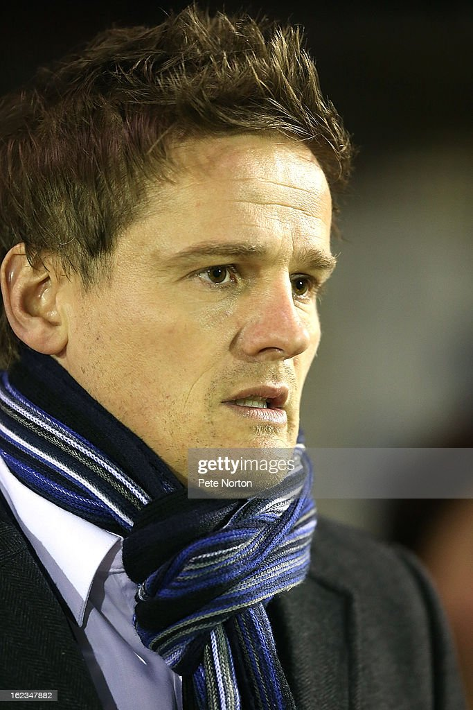 Wimbledon manager Neal Ardley looks on prior to the npower League Two match between AFC Wimbledon and Northampton Town at The Cherry Red Records Stadium on February 19, 2013 in Kingston upon Thames, England.