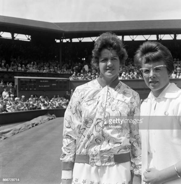 Wimbledon Tennis Billie Jean Moffitt and Margaret Smith 26th June 1962