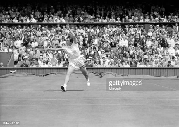 Wimbledon Tennis Billie Jean Moffitt in play against Margaret Smith 26th June 1962