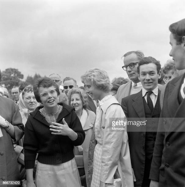 Wimbledon Tennis Billie Jean Moffitt mixing with the crowds 26th June 1962
