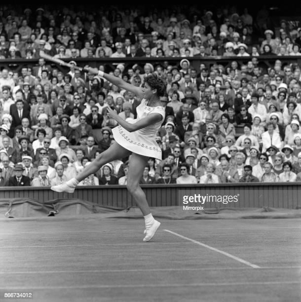 Wimbledon Tennis Ladies day Margaret Smith in action against Billie Jean Moffitt 26th June 1962