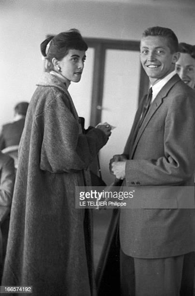 Wimbledon Tennis Tournament 1955 Londres juin 1955 A l'occasion du tournoi de tennis de Wimbledon portrait du joueur Tony TRABERT en costume cravate...