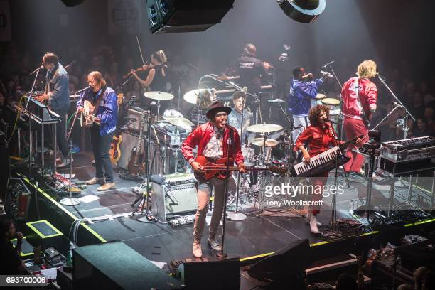 Win Butler and Regaine Chassagne of Arcade Fire perform at Scunthorpe Baths on June 8 2017 in Scunthorpe England