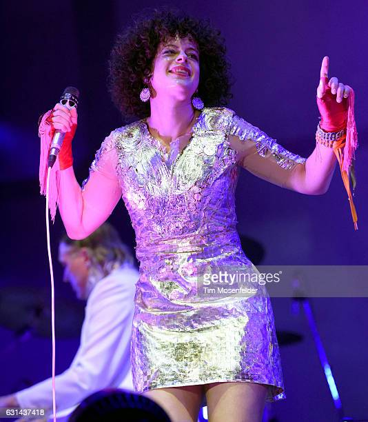 Win Butler and Regine Chassagne of Arcade Fire perform during the Voodoo Music Arts Experience at City Park on October 30 2016 in New Orleans...