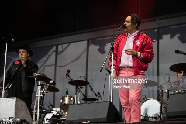 Win Butler and William Butler of Arcade Fire performs at Malahide Castle on June 14 2017 in Dublin Ireland