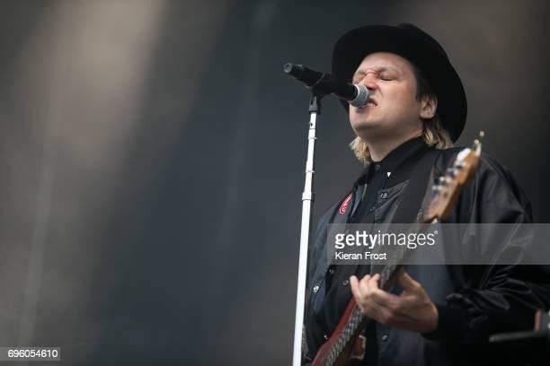 Win Butler of Arcade Fire performs at Malahide Castle on June 14 2017 in Dublin Ireland