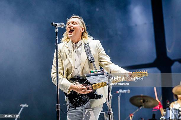 Win Butler of Arcade Fire performs at the Voodoo Music Arts Experience at City Park on October 30 2016 in New Orleans Louisiana