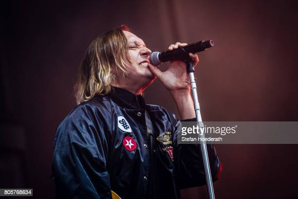 Win Butler of Arcade Fire performs live on stage during a concert at Kindl Buehne Wuhlheide on July 2 2017 in Berlin Germany