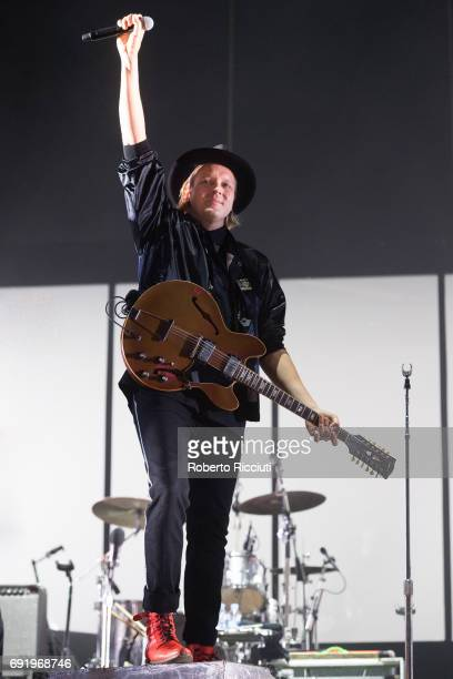 Win Butler of Arcade Fire performs on stage during Primavera Sound Festival 2017 Day 4 at Parc del Forum on June 3 2017 in Barcelona Spain