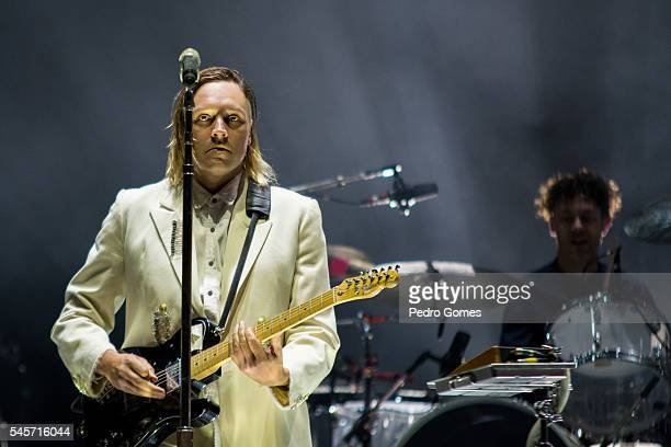 Win Butler of Arcade Fire performs on the main stage at NOS Alive festival on July 9 2016 in Lisboa CDP Portugal