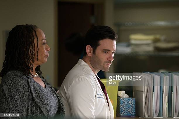MED 'Win Loss' Episode 203 Pictured S Epatha Merkerson as Sharon Goodwin Colin Donnell as Connor Rhodes