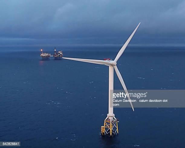 Win turbine and oil platform
