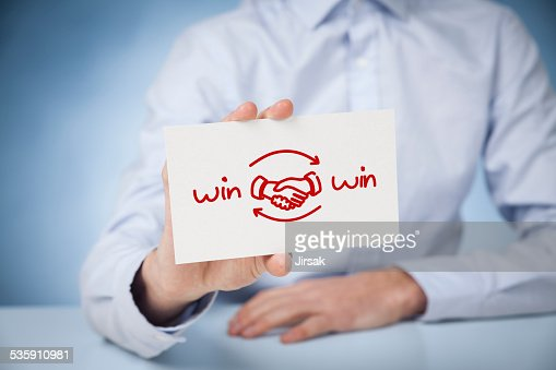 win ganar estrategia : Foto de stock