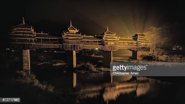 Wind and rain bridge of Cheng Yang in Sanjiang