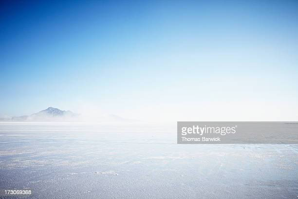 Wind blowing over salt flats