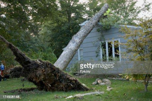 くつろぎの後に嵐の損傷