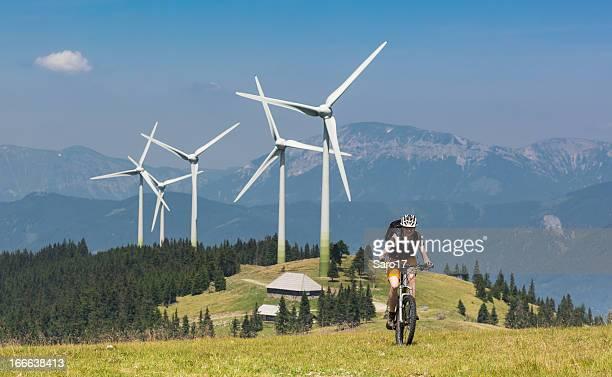 Wind-Energie trifft auf Fahrrad power