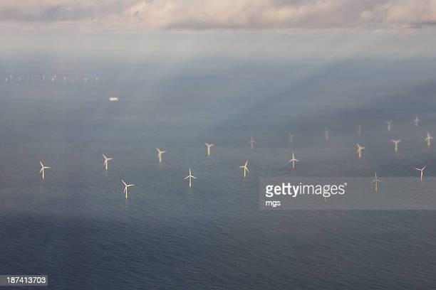 Wind engine at North sea