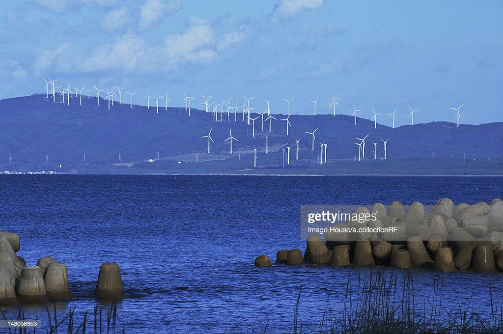 Wind Farm by Coast : Stock Photo