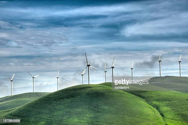 Wind Farm in the California Hills (HDR)