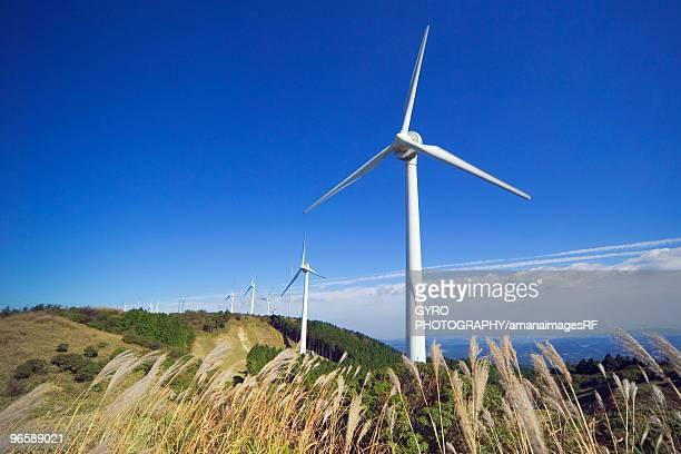 Wind farm on Aoyama plateau,  Tsu,  Mie Prefecture,  Japan