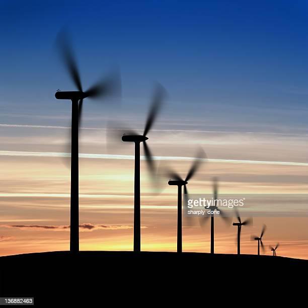 XXL wind farm silhouette