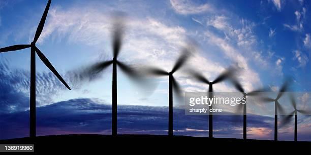 wind farm silueta