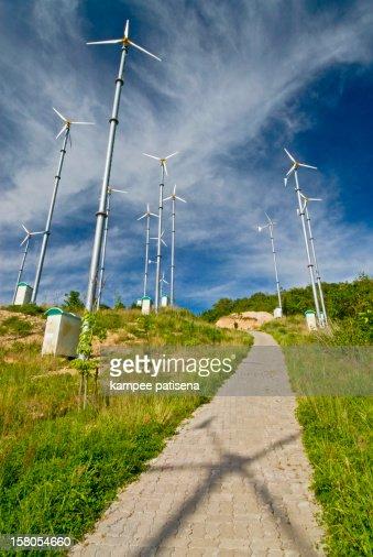 Wind Generator in Koh Lan, Pattaya, Thailand. : Stock Photo
