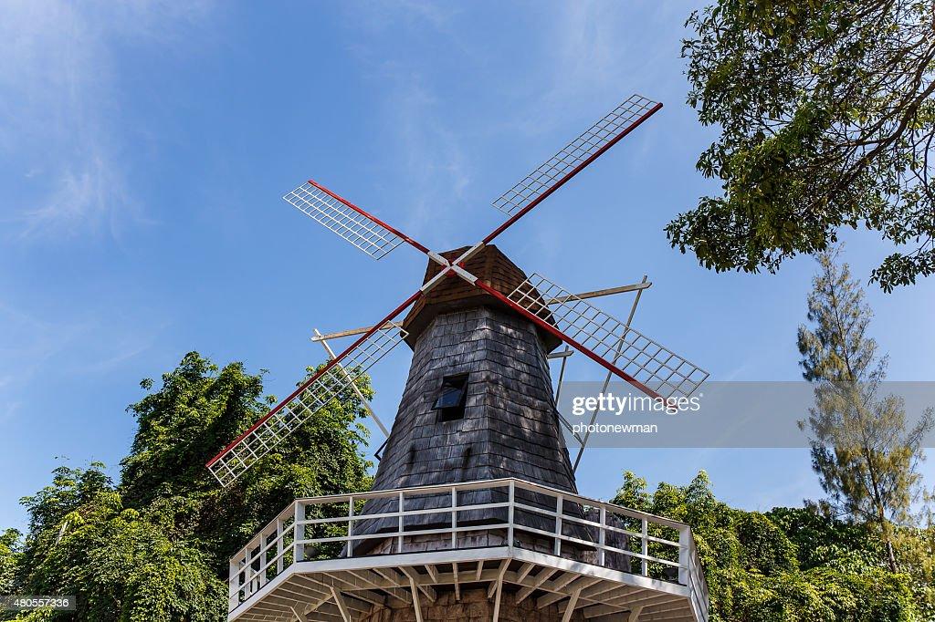 wind in farm : Stock Photo