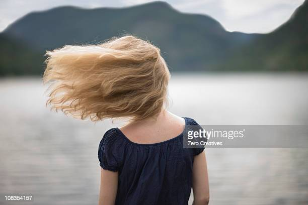 Wind in her hair