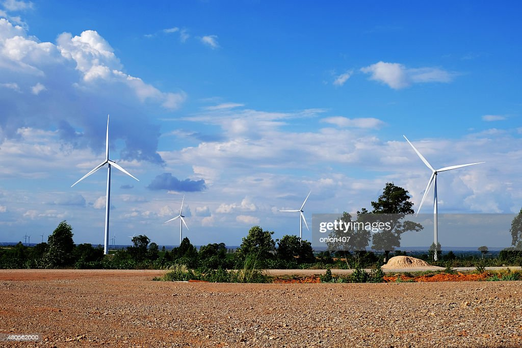 wind mill, Thailand : Stock Photo