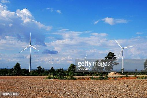 wind mill, Thailand : Stock Photo