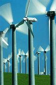 Wind Power Turbines, Tracy, California, USA