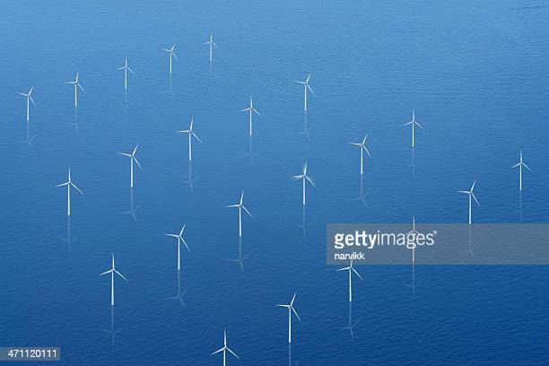 Wind Propellers on Calm Sea