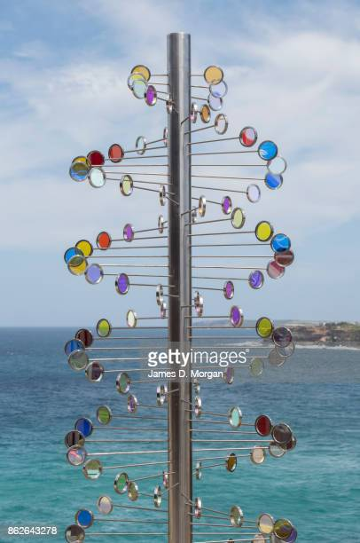 'Wind Reflections' by Rhiannon West at Sculpture By The Sea on October 18 2017 in Sydney Australia The annual art event draws tens of thousands of...