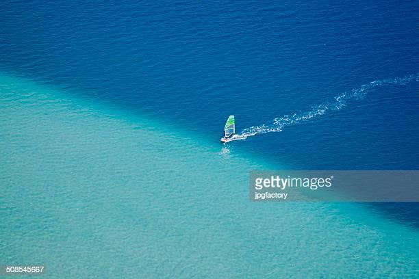 surfer vento in azione