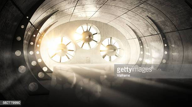 Wind tunnel with backlight