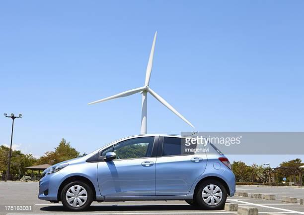 Wind turbine and a car