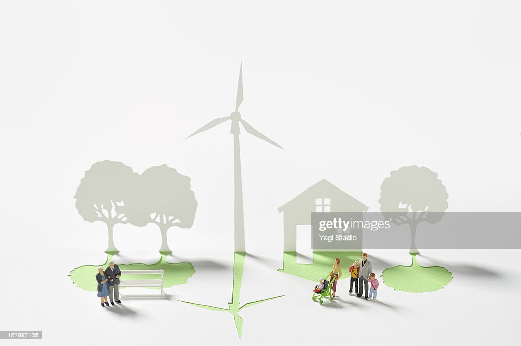 Wind Turbine and house made ??of paper